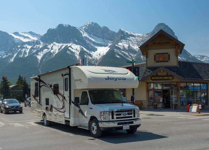 RV travel Canmore Alberta Canada