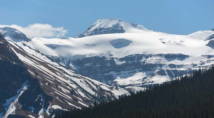Glacier on the Icefields Parkway Banff National Park Canada