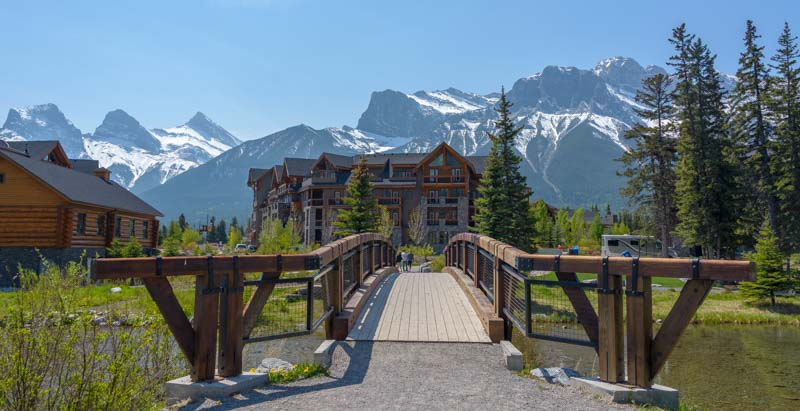 Bike path bridge Canmore Alberta Canada