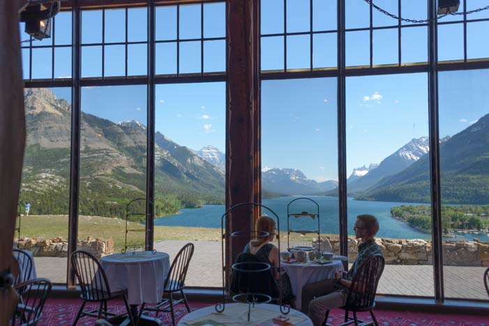 Dining room view Prince of Wales Hotel Waterton Lakes National Park Alberta Canada