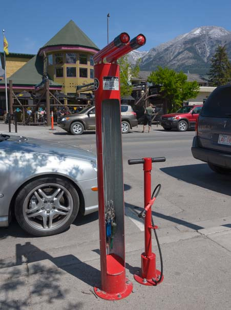 Canmore Alberta Canada street bike stand