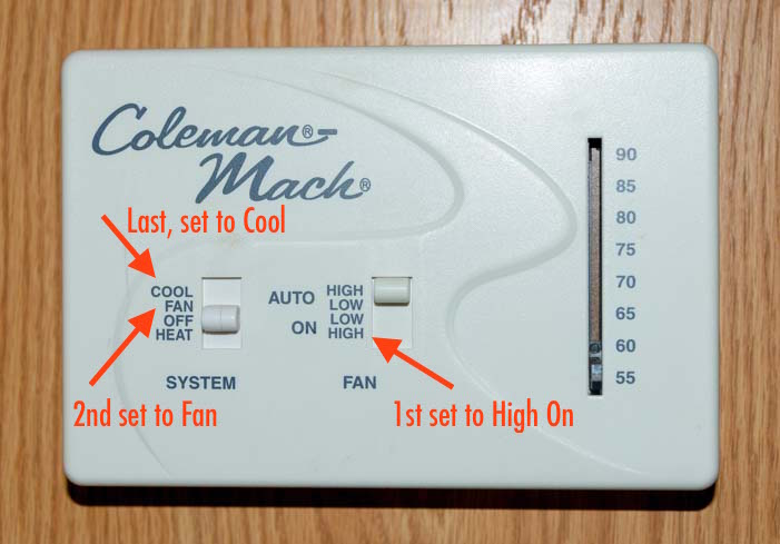 Coleman RV air conditioning control unit