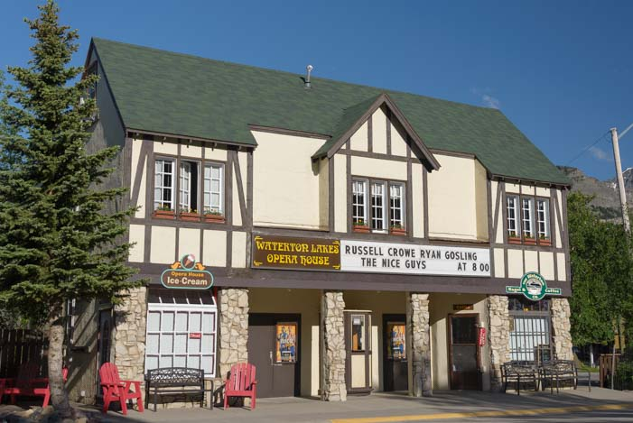 Movie theater Coffee Shop Waterton Lakes National Park townsite