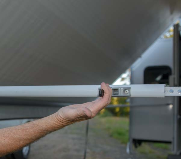 How to set up RV awning - Raise awning