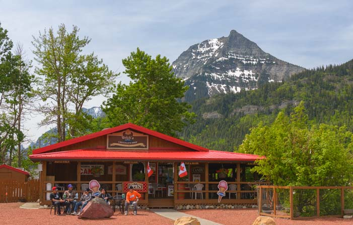 Restaurant and pub Waterton Lakes National Park Alberta Canada