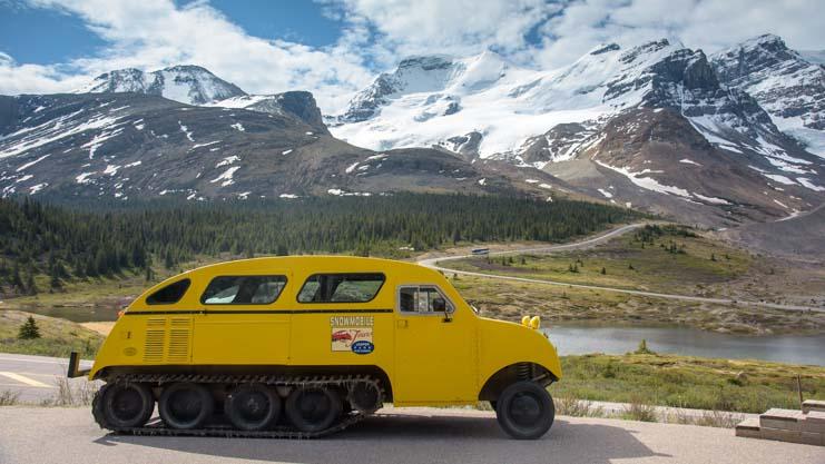 Snowcat tours Columbia Icefields Jasper National Park Alberta Canada