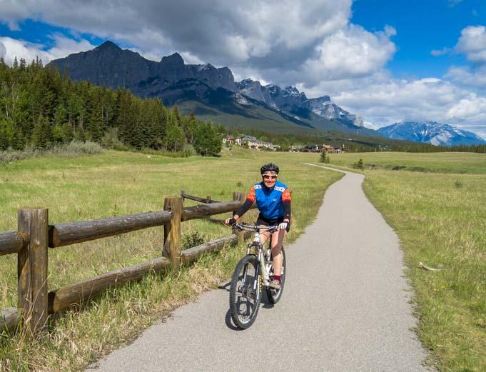 Bike trail Canmore Alberta Canada