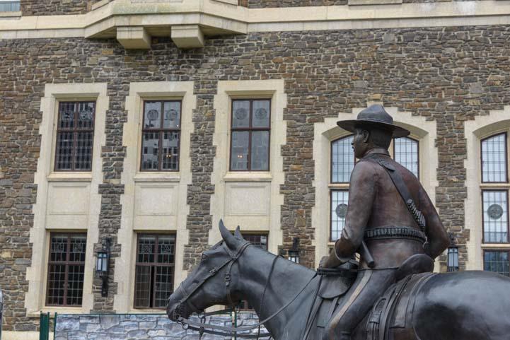 Horse statue Fairmont Banff Springs Hotel Banff Alberta Canada