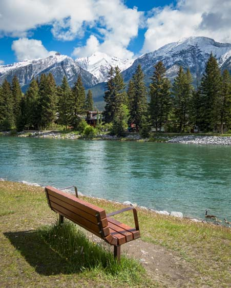 Bow River Canmore Alberta Canada
