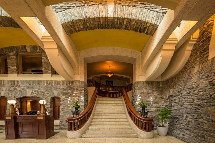 Staircase Fairmont Springs Hotel Banff Alberta Canada
