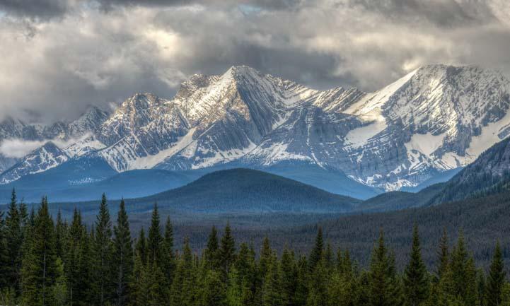 Stormy skies Kananaskis Country Canadian Rockies