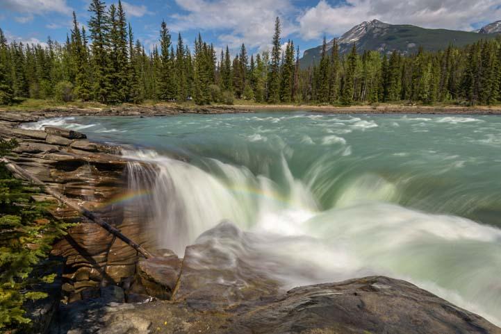 Rainbow Athabasca Falls Jasper National Park Alberta Canada Rocky Mountains 2