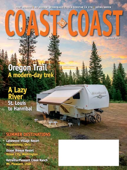 Coast to Coast RV Magazine Cover Summer 2016