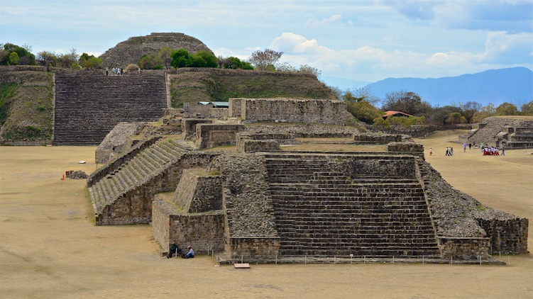 Monte Alban Ancient Zapotec Ruins National Park Oaxaca Mexico
