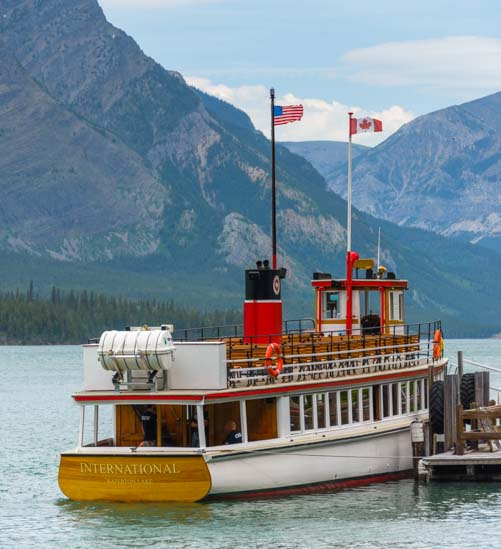 MV International Waterton Shoreline Cruise Waterton-Glacier National Park