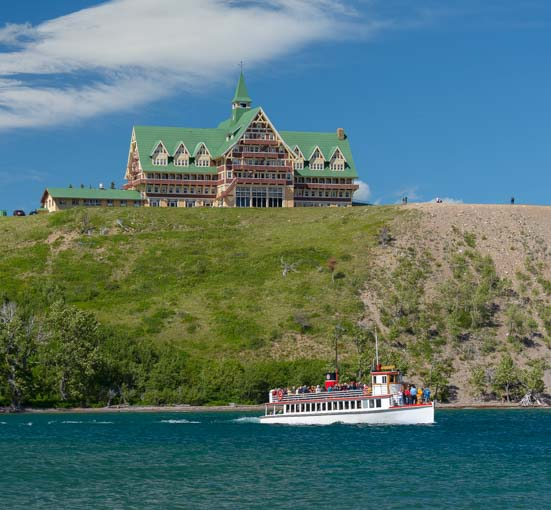 Prince of Wales Hotel Waterton Shoreline Cruise Waterton-Glacier National Park Canada