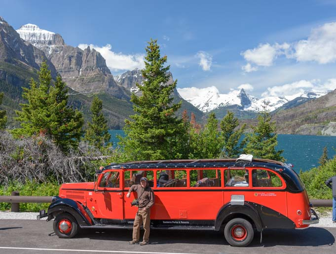 Red Bus Tour Glacier National Park Montana