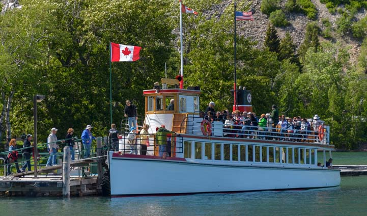 All aboard Waterton Shoreline Cruise Waterton Lakes National Park Canada