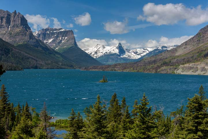 St Mary Lake Glacier National Park Montana