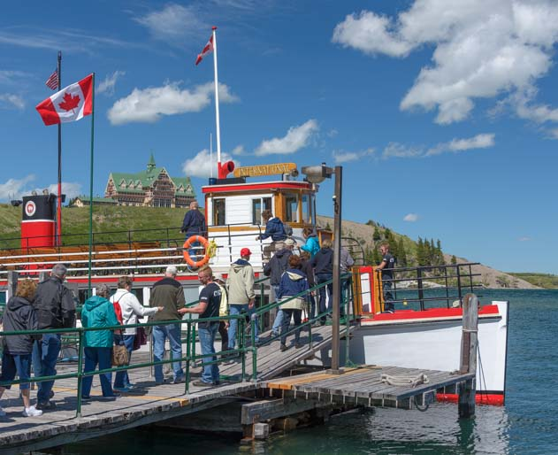 Boarding Waterton Shoreline Cruise Waterton-Glacier National Park Canada