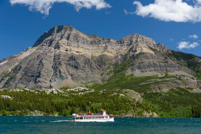 Mountains Waterton Shoreline Cruise Waterton-Glacier National Park Canada