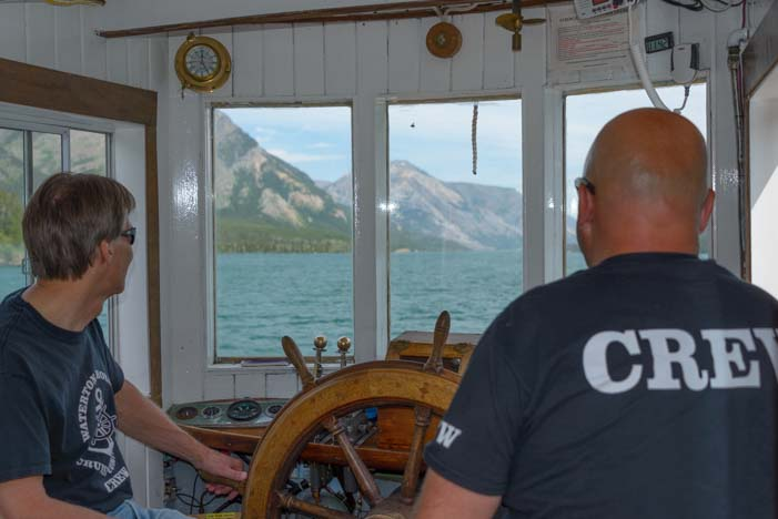 Pilothouse Underway Waterton Shoreline Cruise Waterton-Glacier National Park Canada