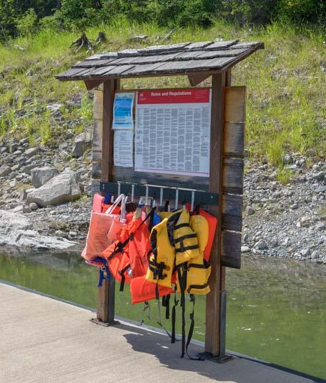 Life preservers Kootenai River boat dock Libby Montana