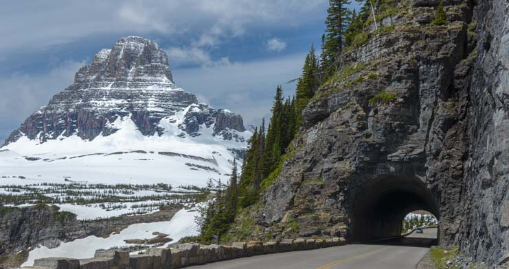 Tunnel Going to the Sun Road Glacier National Park Montana