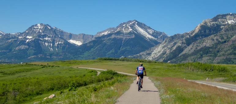 Bicycle path Waterton Lakes National Parks Canada