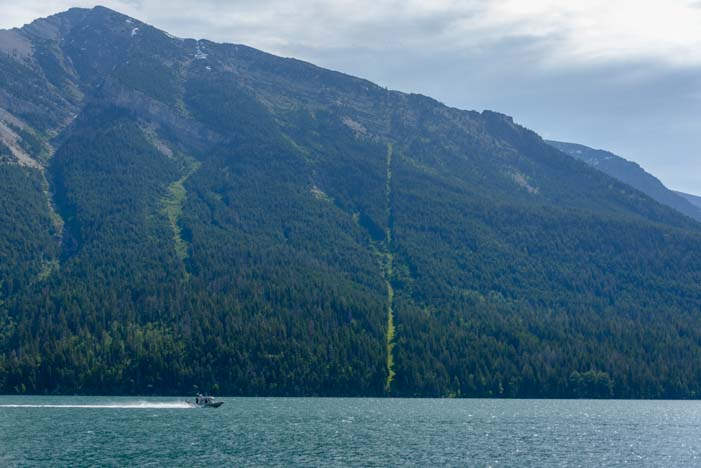 US Canadian Border Waterton Lakes National Park