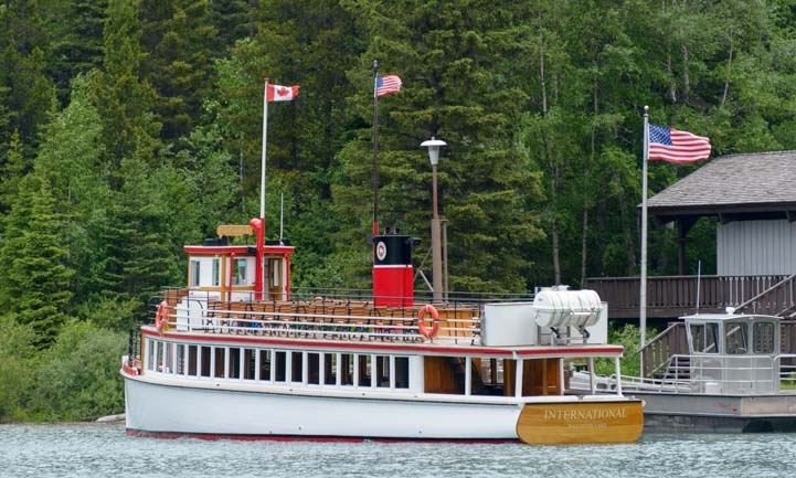 Goathaunt dock Waterton Shoreline Cruise Waterton Lakes National Park Canada