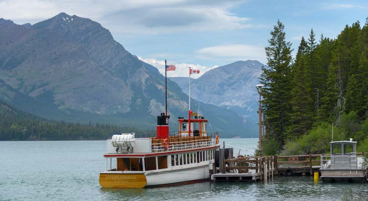Goat Haunt dock Waterton Shoreline Cruise Waterton Lakes National Park Canada