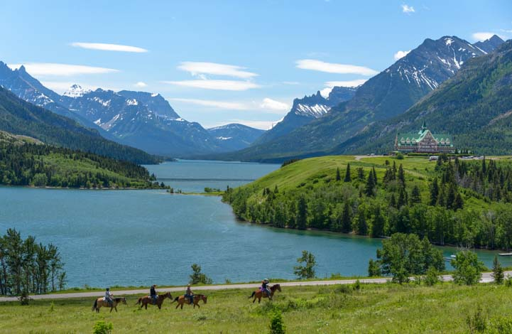 Horseback riders Waterton Lakes National Parks Canada