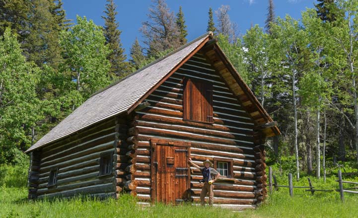 Ranger's cabin St Mary East Glacier National Park Montana