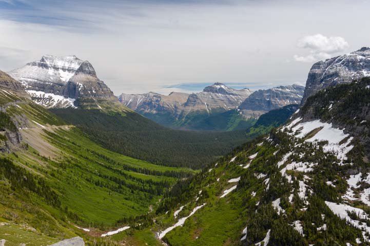 Glacier valleys Glacier National Park Montana