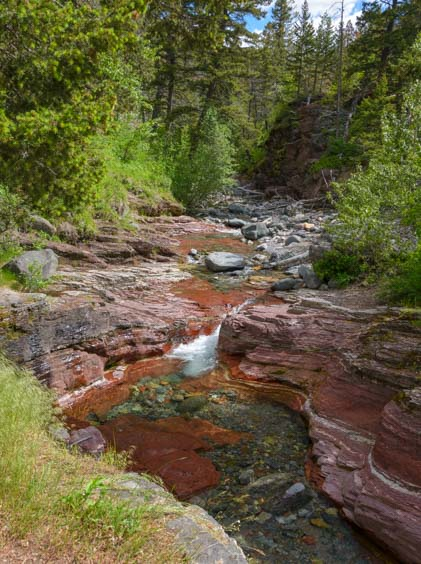 Red Rock Canyon Waterton Lakes National Parks Canada