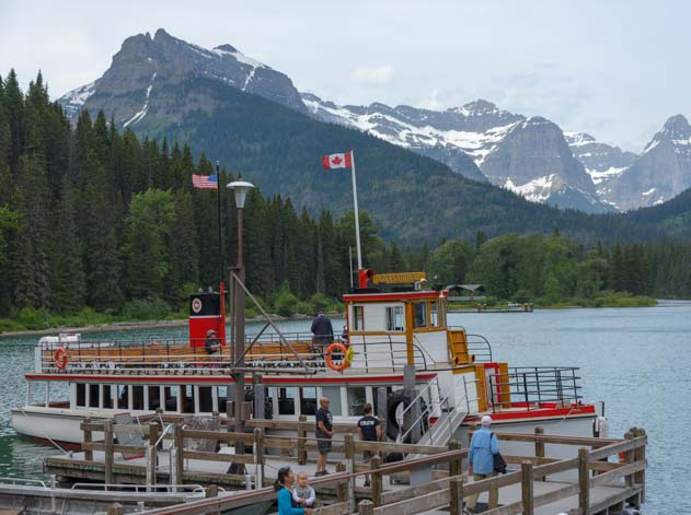 Goat Haunt Boarding Waterton Shoreline Cruise Waterton-Glacier National Park Canada