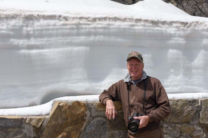 Thick Snow Glacier National Park Montana