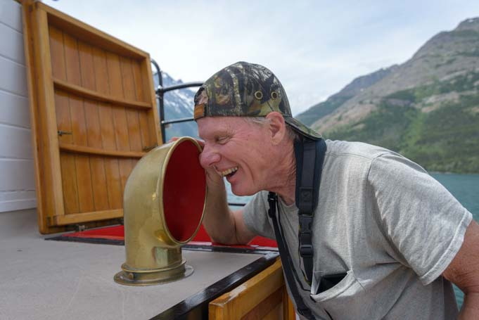 Ship talk Waterton Shoreline Cruise Waterton-Glacier National Park Canada