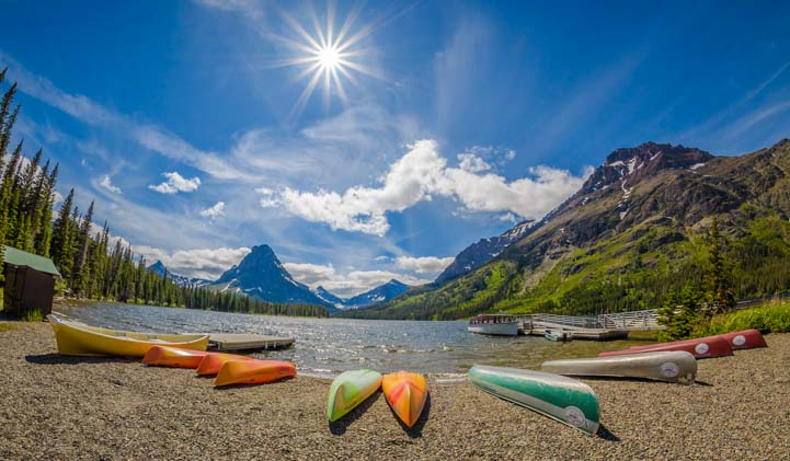 Canoes Two Medicine Glacier National Park Montana