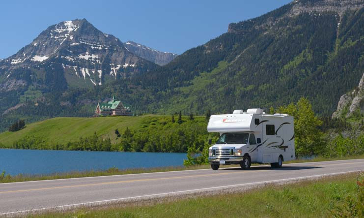 Class C Motorhome Waterton Lakes National Parks Canada