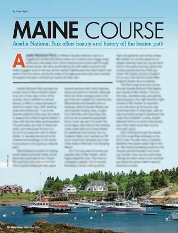 Motorhome Magazine Acadia National Park Maine Article by Emily Fagan
