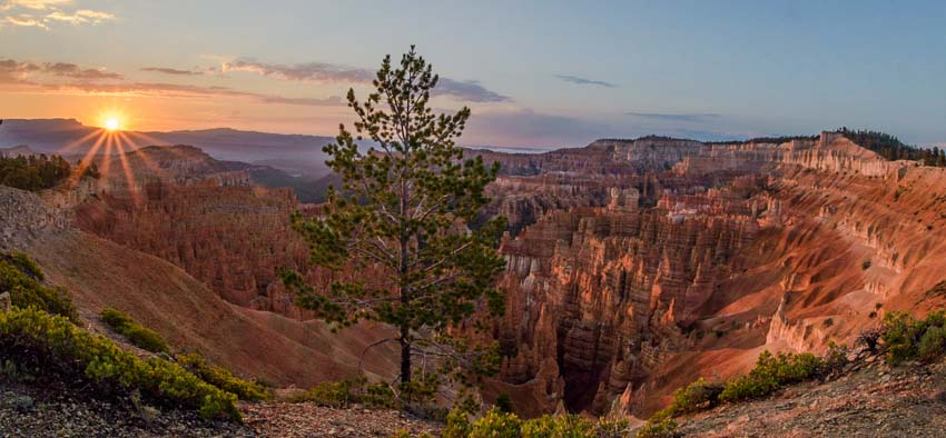Sunrise Bryce Canyon National Park Utah View of Amphitheater