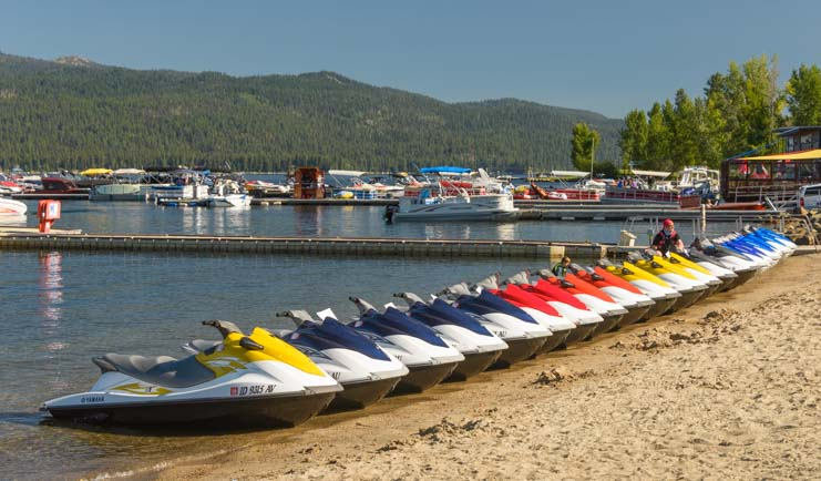 Jet skis on the beach McCall Idaho