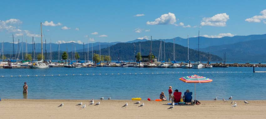 Sandpoint City Beach Park in Idaho