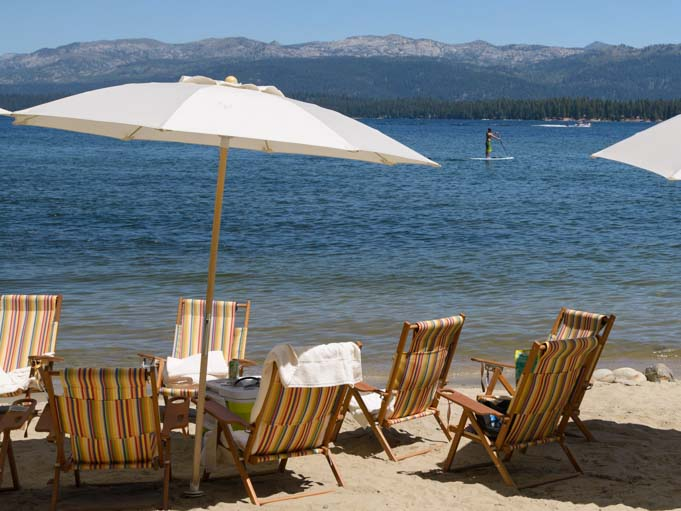 Beach umbrellas McCall Idaho Payette Lake