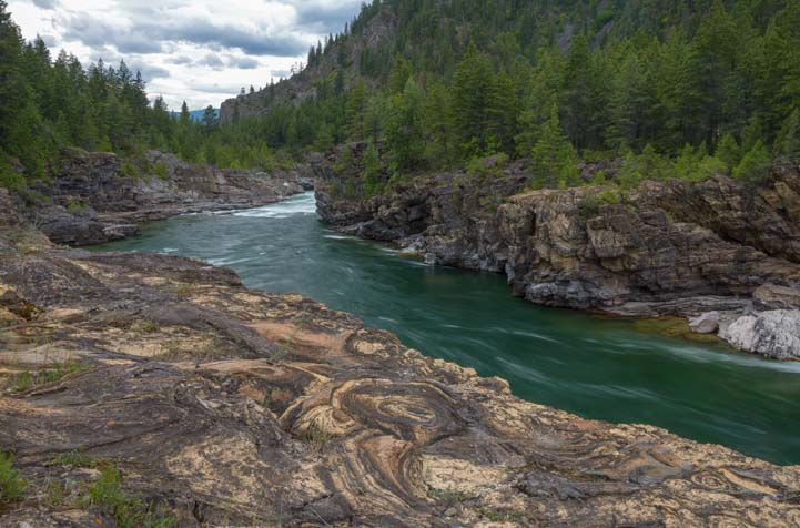 Kootenai River at Kootenai Falls Wildlife Management Area Montana