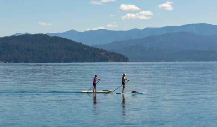 Standup paddle boards Sandpoint Idaho