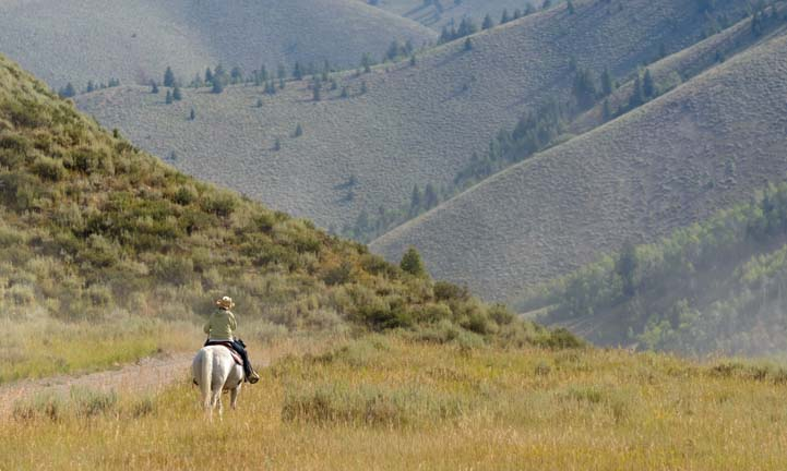 Horseback riding in Sun Valley Idaho
