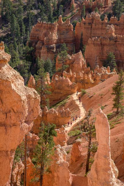 Hikers Navajo Loop Trail Bryce Canyon National Park Utah